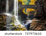 watkins glen state park... | Shutterstock . vector #737973610
