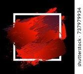 gradient vibrant red strokes... | Shutterstock .eps vector #737979934