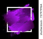 gradient vibrant purple strokes ... | Shutterstock .eps vector #737979964