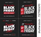 50  off black friday super sale ... | Shutterstock .eps vector #737980690