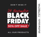 50  off black friday super sale ... | Shutterstock .eps vector #737980744