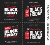 50  off black friday super sale ... | Shutterstock .eps vector #737980789
