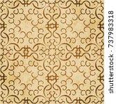 retro brown watercolor texture... | Shutterstock .eps vector #737983318