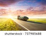 asphalt road | Shutterstock . vector #737985688