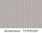 colored dot on brown grey... | Shutterstock .eps vector #737992324