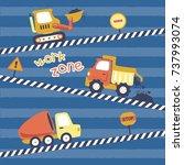 heavy tools  vector cartoon... | Shutterstock .eps vector #737993074