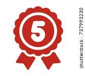 ranking medal icon illustration....