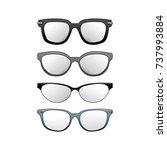 a set of sunglasses. | Shutterstock .eps vector #737993884