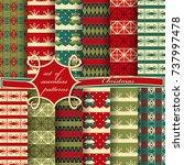 set of seamless christmas... | Shutterstock .eps vector #737997478