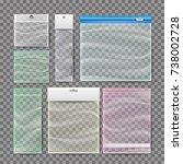 plastic pocket bags set . blank ... | Shutterstock . vector #738002728