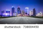 shanghai at night  china | Shutterstock . vector #738004450