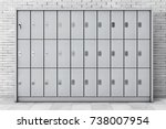 metal safety lockers for... | Shutterstock . vector #738007954