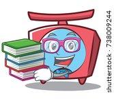 geek scale character cartoon... | Shutterstock .eps vector #738009244