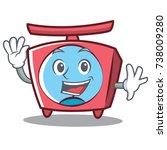waving scale character cartoon... | Shutterstock .eps vector #738009280