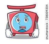 afraid scale character cartoon... | Shutterstock .eps vector #738009304