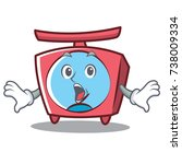 surprised scale character... | Shutterstock .eps vector #738009334