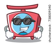 super cool scale character... | Shutterstock .eps vector #738009340