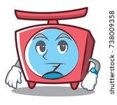 waiting scale character cartoon ... | Shutterstock .eps vector #738009358