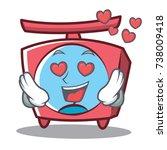 in love scale character cartoon ... | Shutterstock .eps vector #738009418