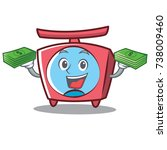 with money scale character... | Shutterstock .eps vector #738009460
