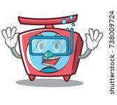 diving scale character cartoon... | Shutterstock .eps vector #738009724