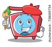 artist scale character cartoon... | Shutterstock .eps vector #738009754