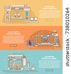 medical 3d printing vector... | Shutterstock .eps vector #738010264