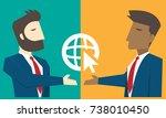 businessman character cartoon... | Shutterstock .eps vector #738010450