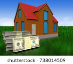 3d Illustration Of Cottage With ...