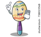 with phone maracas character... | Shutterstock .eps vector #738015568