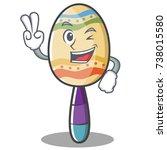 two finger maracas character... | Shutterstock .eps vector #738015580