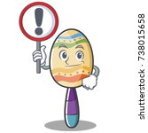 with sign maracas character... | Shutterstock .eps vector #738015658