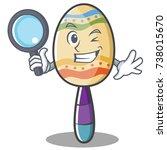 detective maracas character... | Shutterstock .eps vector #738015670