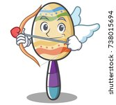 cupid maracas character cartoon ... | Shutterstock .eps vector #738015694