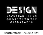 Vector of modern abstract font and alphabet | Shutterstock vector #738015724