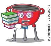 geek barbecue grill cartoon... | Shutterstock .eps vector #738015748