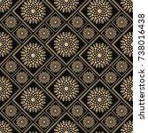 islamic vector design. seamless ... | Shutterstock .eps vector #738016438