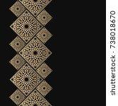 golden frame in oriental style. ... | Shutterstock .eps vector #738018670