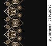 golden frame in oriental style. ... | Shutterstock .eps vector #738018760