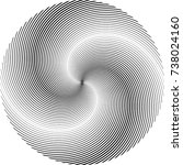 lines in circle form . spiral... | Shutterstock .eps vector #738024160