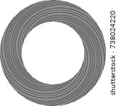 lines in circle form . spiral... | Shutterstock .eps vector #738024220