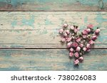 Heart From Dried Rose Flowers...