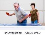 Mature Couple Playing Ping Pon...