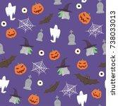 halloween background | Shutterstock .eps vector #738033013