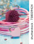 pink padlock heart | Shutterstock . vector #738039424