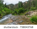 spearfish canyon in the black... | Shutterstock . vector #738043768