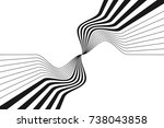abstract halftone stripes... | Shutterstock .eps vector #738043858