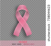 breast cancer awareness month   ... | Shutterstock .eps vector #738044623