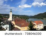 bell tower of grein cathedral ...   Shutterstock . vector #738046330