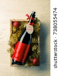 picture of bottle of wine with... | Shutterstock . vector #738055474